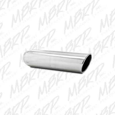 """Exhaust - Exhaust Tips - MBRP Exhaust - MBRP Exhaust 4"""" OD, 3"""" inlet, 16"""" in length, Angled Cut Rolled End, Weld on, T304 T5136"""