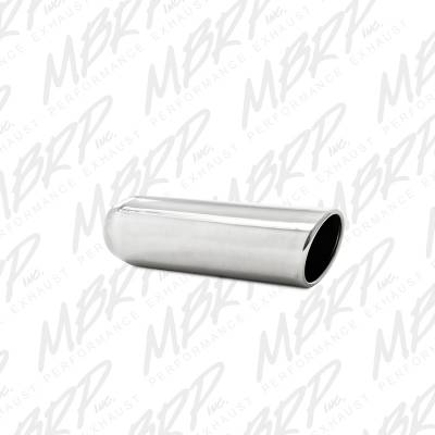 """Exhaust - Exhaust Tips - MBRP Exhaust - MBRP Exhaust 3.5"""" OD, 2.25"""" inlet, 12"""" in length, Angled Cut Rolled End, Weld on, T304 T5137"""