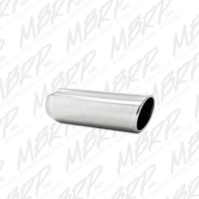 """Exhaust - Exhaust Tips - MBRP Exhaust - MBRP Exhaust 3.5"""" OD, 2.5"""" inlet, 12"""" in length, Angled Cut Rolled End, Weld on, T304 T5138"""