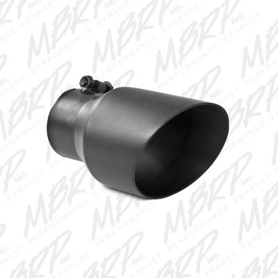 """Exhaust - Exhaust Tips - MBRP Exhaust - MBRP Exhaust Tip, 4 1/2"""" O.D., Dual Wall Angled, 3"""" inlet, 8"""" length, Black T5151BLK"""