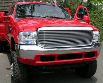 Exterior Accessories - Grilles - T-Rex - T-Rex 1999-2004 Super Duty  BILLET ALUMINUM POLISHED FULL FACE 20574