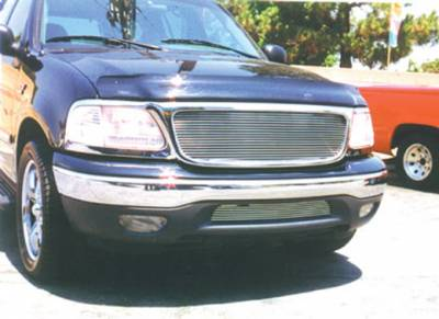 Exterior Accessories - Grilles - T-Rex - T-Rex 1997-2002 F150 & Expedition  BILLET ALUMINUM POLISHED Grille 21583