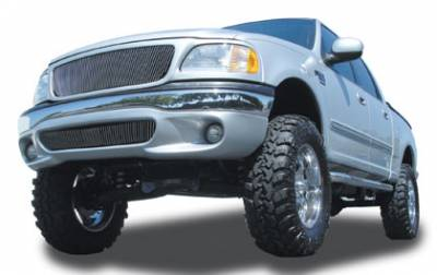 Exterior Accessories - Grilles - T-Rex - T-Rex 1997-2002 F150 & Expedition  BILLET ALUMINUM POLISHED Grille 30580