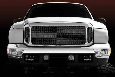Exterior Accessories - Grilles - T-Rex - T-Rex 1999-2004 Super Duty  Upper Class STEEL BLACK Grille 51571