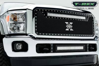 T-Rex - T-Rex 2011-2015 Super Duty  TORCH STEEL BLACK Grille 6315461