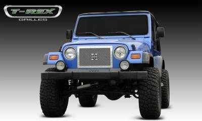 T-Rex - T-Rex 1997-2006 Wrangler  X-METAL STAINLESS POLISHED Grille 6714900