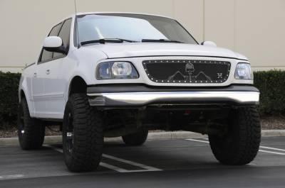 T-Rex - T-Rex 1999-2003 F150 (All Models)   X-METAL STEEL FLAT BLACK Grille 7115806