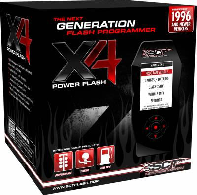 Engine Electronics/Programmers - SCT Performance - SCT Performance GM X4 Power Flash Pre-programmed Device 7416