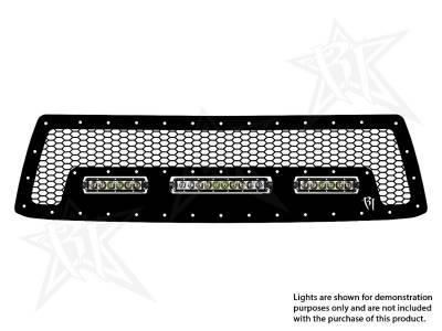 "Exterior Accessories - Grilles - Rigid Industries - Rigid Industries Toyota Tundra  - 2010-2013  Grille Kit #2 - 10"" SR-Series, 2X 6""SR-Series 40555"