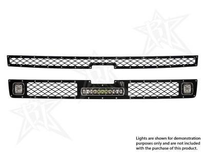 """Exterior Accessories - Grilles - Rigid Industries - Rigid Industries Chevy 2500/3500 - 2011-2013 Grille Kit - 2XDually/D2, 10"""" SR-Series 40564"""