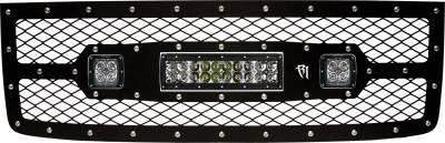 "Exterior Accessories - Grilles - Rigid Industries - Rigid Industries GMC 1500 2011-2013 Grille Kit- 10"" E-Series and Pair Dually/D2 40568"