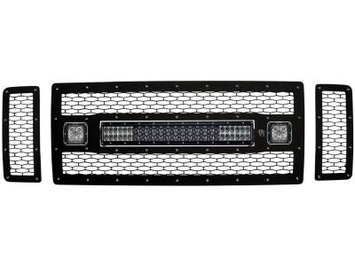 """Exterior Accessories - Grilles - Rigid Industries - Rigid Industries Ford F-250/F-350 - 2008-2010 Non-FX4 Grille Kit-  20"""" E-Series 2xDually 40577"""