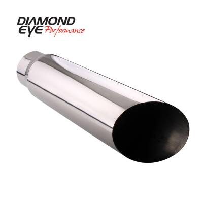 Exhaust - Exhaust Tips - Diamond Eye Performance - Diamond Eye Performance TIP; BOLT-ON ANGLE CUT; 4in. ID X 5in. OD X 12in. LONG; 4512BAC