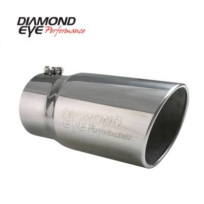 """Exhaust - Exhaust Tips - Diamond Eye Performance - Diamond Eye Performance 4"""" INLET X 5"""" OUTLET X 12"""" LONG BOLT ON ROLLED ANGLE STAINLESS STEEL EXHAUST TIP 4512BRA-DE"""
