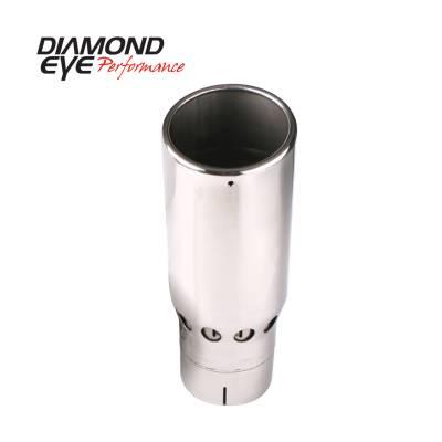 Exhaust - Exhaust Tips - Diamond Eye Performance - Diamond Eye Performance TIP; VENTED ROLLED ANGLE; 4in. ID X 5in. OD X 16in. LONG; 4516VRA