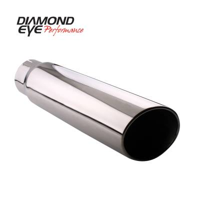 Exhaust - Exhaust Tips - Diamond Eye Performance - Diamond Eye Performance TIP; ROLLED ANGLE CUT; 4in. ID X 5in. OD X 18in. LONG; 304 STAINLESS 4518RA