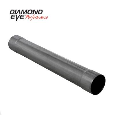 Exhaust - Mufflers - Diamond Eye Performance - Diamond Eye Performance PERFORMANCE DIESEL EXHAUST PART-4in. 409 STAINLESS STEEL PERFORMANCE MUFFLER REP 510210