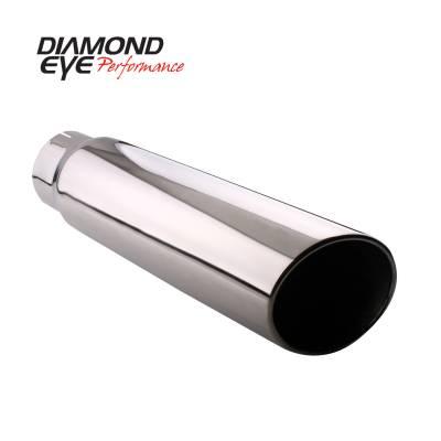 Exhaust - Exhaust Tips - Diamond Eye Performance - Diamond Eye Performance TIP; BOLT-ON ROLLED ANGLE CUT; 5in. ID X 6in. OD X 12in. LONG; 304 ST 5612BRA