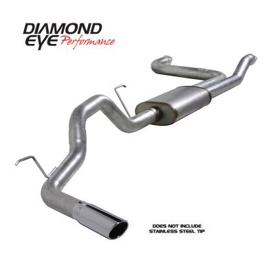 Diamond Eye Performance - Diamond Eye Performance 2004-2012 NISSAN TITAN 5.6L (ALL CAB AND BED LENGTHS)-3.5in. ALUMINIZED-PERFORMA K3520A