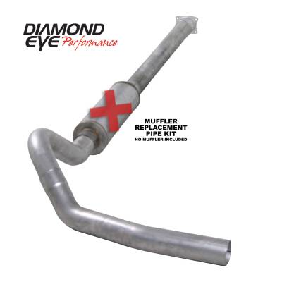 Exhaust - Exhaust Systems - Diamond Eye Performance - Diamond Eye Performance 2001-2005 CHEVY/GMC 6.6L DURAMAX 2500/3500 (ALL CAB AND BED LENGHTS)-4in. ALUMIN K4110A-RP