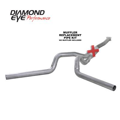 Exhaust - Exhaust Systems - Diamond Eye Performance - Diamond Eye Performance 2001-2005 CHEVY/GMC 6.6L DURAMAX 2500/3500 (ALL CAB AND BED LENGTHS)-4in. ALUMIN K4112A-RP