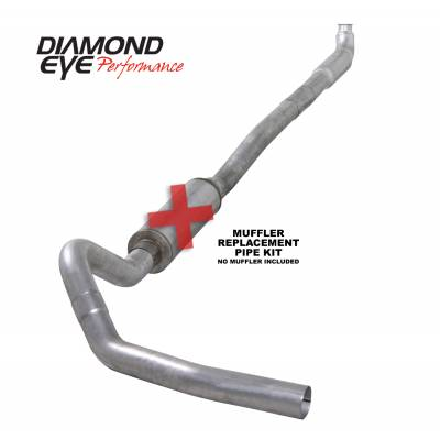 Exhaust - Exhaust Systems - Diamond Eye Performance - Diamond Eye Performance 2001-2007.5 CHEVY/GMC 6.6L DURAMAX 2500/3500 (ALL CAB AND BED LENGTHS)-4in. ALUM K4113A-RP