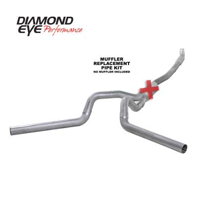 Exhaust - Exhaust Systems - Diamond Eye Performance - Diamond Eye Performance 2001-2007.5 CHEVY/GMC 6.6L DURAMAX 2500/3500 (ALL CAB AND BED LENGTHS) 4in. ALUM K4115A-RP