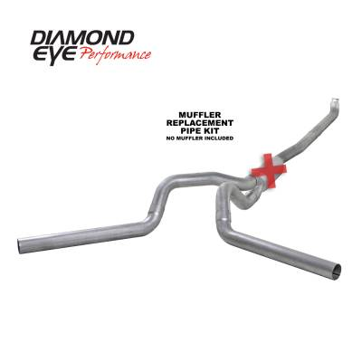 Diamond Eye Performance - Diamond Eye Performance 2001-2007.5 CHEVY/GMC 6.6L DURAMAX 2500/3500 (ALL CAB AND BED LENGTHS) 4in. ALUM K4116A-RP