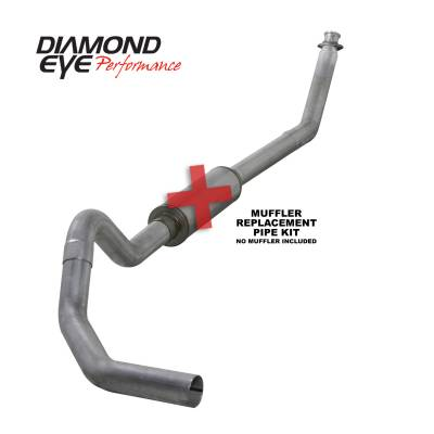 Exhaust - Exhaust Systems - Diamond Eye Performance - Diamond Eye Performance 1994-2002 DODGE 5.9L CUMMINS 2500/3500 (ALL CAB AND BED LENGTHS)-4in. ALUMINIZED K4212A-RP