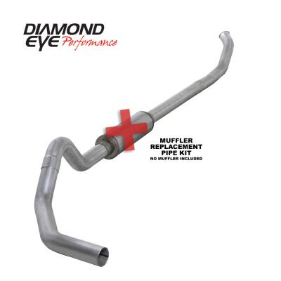 Exhaust - Exhaust Systems - Diamond Eye Performance - Diamond Eye Performance 2003-2004.5 DODGE 5.9L CUMMINS 2500/3500 (ALL CAB AND BED LENGTHS)-4in. ALUMINIZ K4218A-RP