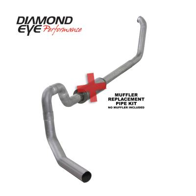 Diamond Eye Performance - Diamond Eye Performance 2001-2002 FORD 7.3L POWERSTROKE EXCURSION-4in. ALUMINIZED-PERFORMANCE DIESEL EXH K4332A-RP