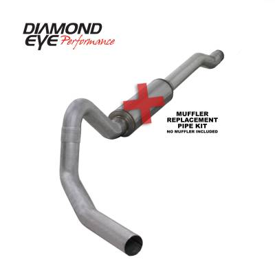 Diamond Eye Performance - Diamond Eye Performance 2003-2006 FORD 6.0L POWERSTROKE EXCURSION-4in. ALUMINIZED-PERFORMANCE DIESEL EXH K4354A-RP
