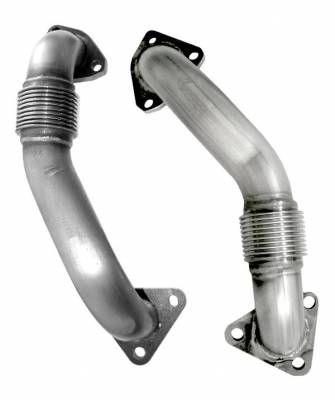 PPE Diesel - OEM Length Replacement High Flow Up-Pipes - GM 6.6L Duramax 2001 CA and 2001-2004 FED
